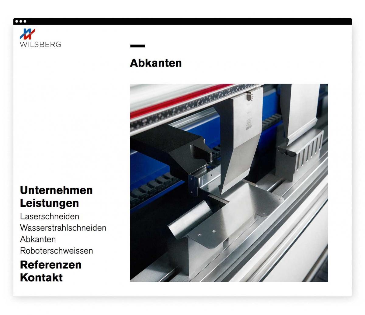 Wilsberg Metalltechnik Webseite